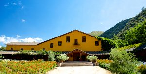 Old winery and gardens in Puquillay, Luis Felipe Edwards winery and vineyards, Colchagua Valley, Chile